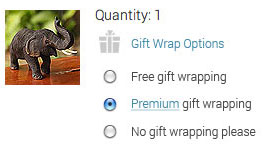 Select your gift wrap option during checkout